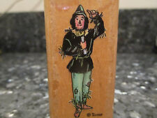 The Wizard of Oz Scarecrow wood Rubber Stamp All night Media 803E