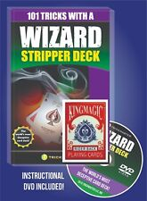 RED WIZARD STRIPPER DECK MAGIC TRICK COMPLETE CARD MAGIC KIT