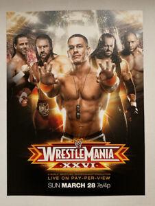 "WWF WWE Poster Print John Cena The Undertaker WrestleMania XXVI 2010 12"" x 16"""