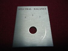 ACOUSTIC RESEARCH ORIGINAL NEW OLD STOCK AR-LST/2  SPECTRAL BALANCE PLATE