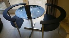 Unbranded Glass 3 Piece Table & Chair Sets