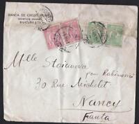 ROUMANIE  OLD LETTER BUCAREST  DESTINATION NANCY  YEAR 1927