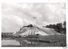 4302/FOTO ORIGINALE 6x9cm, Fieseler Storch tramite distrutte pripjet-Ponte canale