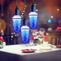 E27 LED Flame Effect Fire Light Bulb Lamp Flickering Home Xmas Party Decoration