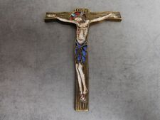 CHRIST CRUCIFIX EN BRONZE EMAILLE SIGNE N°16