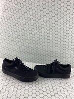 VANS Old Skool All Black Canvas Lace Up Low Top Shoes Men's Size 7  Women's 8.5