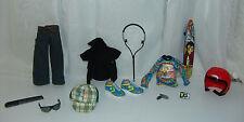 "Bratz Boyz Moda a Tokyo Accessory Lot. Boys doll outfit, Helmet, Shoes, ""Rare"""