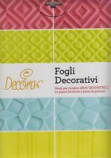 Fogli decorativi decora 9260210 torte dolci geometrici glassa fondente - Rotex