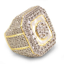 YELLOW OLD OVER 6.00 CT MENS DIAMOND ENGAGEMENT WEDDING PINKY RING BAND 7-14