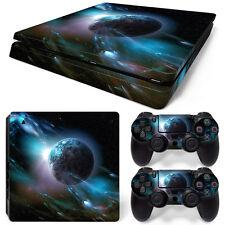 Sony PS4 Playstation 4 Slim Skin Aufkleber Schutzfolie Set - Planet Motiv