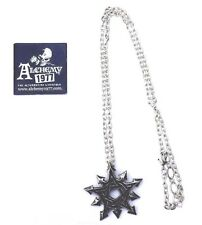 Alchemy - Chaosagram - Pewter and Enamel Pendant - Necklace/Pentagram/P650/Arrow