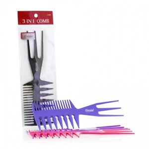 "ANNIE 3 IN 1 COMB LARGE 8"" #208 ASSORTED COLOR"
