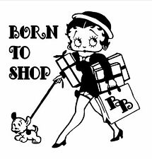 Betty Boop Born To Shop Decal / Sticker