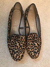 M&S Autograph Women's Animal Print Flat Leather Shoes - Size UK 4.5 (37.5)