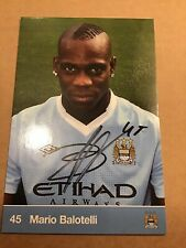 Mario Balotelli, Manchester City 2011/12 original signiert
