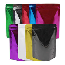 Stand Up Mylar Aluminum Foil Bags Food Storage Zip Lock Pouch Tea Packaging Bag