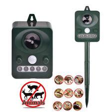 Ultrasonic Solar Power Repeller Pest Animal Repellent Dog Cat Chaser Deterrent