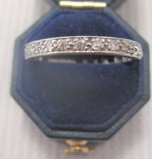 A Beautiful Art Deco Diamond Eternity Ring in 18ct White Gold