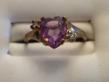 WOW! HEART SHAPED COLOR CHANGE PURPLE SAPPHIRE RING SEE PICS