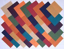 "Subdued Solids 4"" Squares ~ 100% Cotton Prewashed ~ Quilt Block Fabric (#74A)"