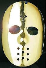 Gold Hockey Face Mask Jason Friday 13Th Halloween Robot Fancy Dress