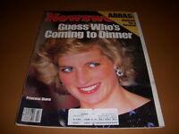 Newsweek Magazine, October 28, 1985, Princess Diana Cover, Abbas, Coke Classic!