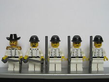 Lego WESTERN AMERICAN CIVIL WAR White Union Soldiers Minifigs Cavalry