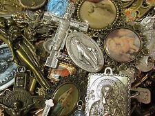 10 Religious Medal Pendant Crucifix Cross Our lady-Saint Random Mix Lot #10