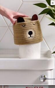 Bnwt Next Bear Toilet Roll Cover Holder New….