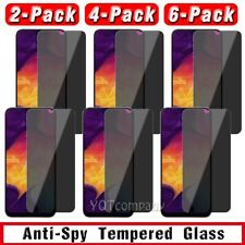 For Galaxy A10e/A20/A20S/A30/A50/A70 Anti-Spy Tempered Glass Screen Protector