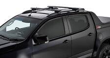 Rhino Pair of Vortex Roof Racks Colorado RG 4dr Ute For OE Rails 2013 on Black