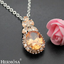 75% OFF Natural MORGANITE 925 Sterling Silver Anniversary Necklace Pendant