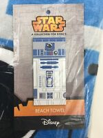 Star Wars R2D2 Beach Towel Disney Cotton 28x58 Collection For Kohl's