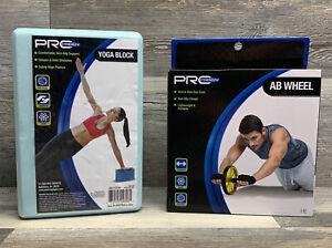 Pro Strength Ab Wheel & Yoga Block 1 Pc Non Slip Design Lightweight Portable