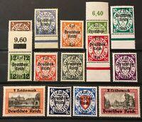 "Germany 3rd Reich Danzig 1939 Mi 716-729 Sc 241-54 MNH ""CERTIFIED SCHLEGEL BPP"""