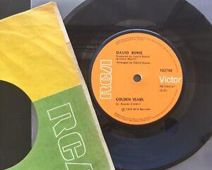 "DAVID BOWIE Golden Years 7"" ( AUSTRALIA 1975)  RCA 102708 excellent condition"