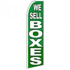We Sell Boxes King Size Polyester Swooper Flag banner sign