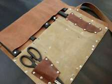 7 Slot Japanese Chef Knife Roll Bag Leather Knife Cleaver Roll Carry Case Wallet