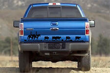 Horses & Cattle Tailgate Sticker Vinyl Decal Stickers 8x42