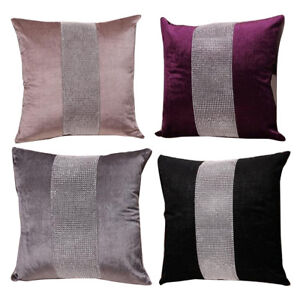 "Vintage 17"" Soft Diamond Velvet Throw Pillow Case Cushion Cover Home Sofa Decor"