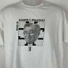 Vintage Times Books Crossword Puzzle X-Large T Shirt Eugene Maleska New York Tee
