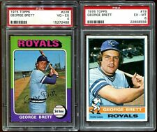 1975 TOPPS GEORGE BRETT #228 rookie RC & 1976 TOPPS #19 PSA 4 & 6 LOT