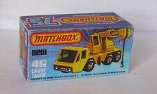 Repro Box Matchbox Superfast Nr.49 Crane Truck