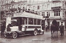 Germany AK Berlin Bus Automobil-Omnibus Route 4 to Chaussee Strasse old postcard