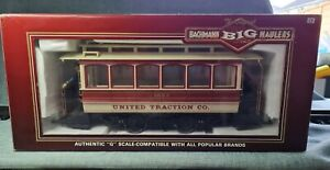 BACHMANN BIG HAULERS 93939 G GAUGE UNITED TRACTION STREET CAR TROLLEY 1623 TRAM