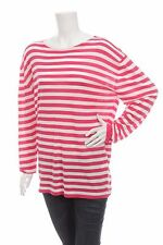 BNWT LACOSTE WOMEN'S BLOUSE SWEATER TOP WHITE PINK STRIPED Size XL NEW WITH TAGS