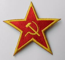RUSSIAN RUSSIA SOVIET STAR EMBROIDERED LOGO ARM PATCH 3.25 INCHES