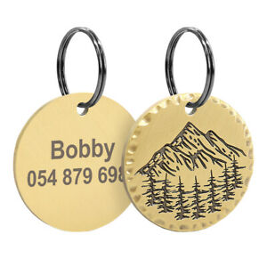Heavy Duty Custom Name Tags for Dogs Personalized ID Tags Copper Engraved Discs