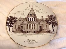 Middle Creek United Methodist Church 1861-1986 Plate Gold Rim Aberdeen S.D.