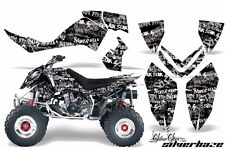 AMR Racing Decal Sticker Quad Graphic Sticker Kit Polaris Outlaw 500/525 SLVRHZE